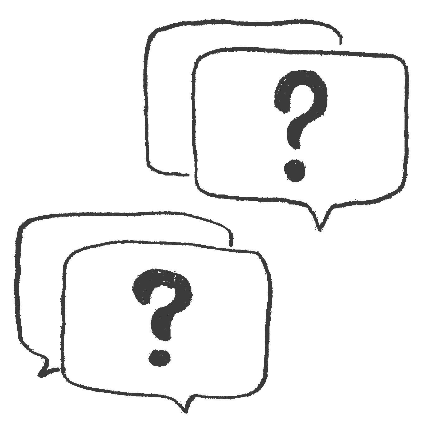 質問フキダシのアイコンフリー素材