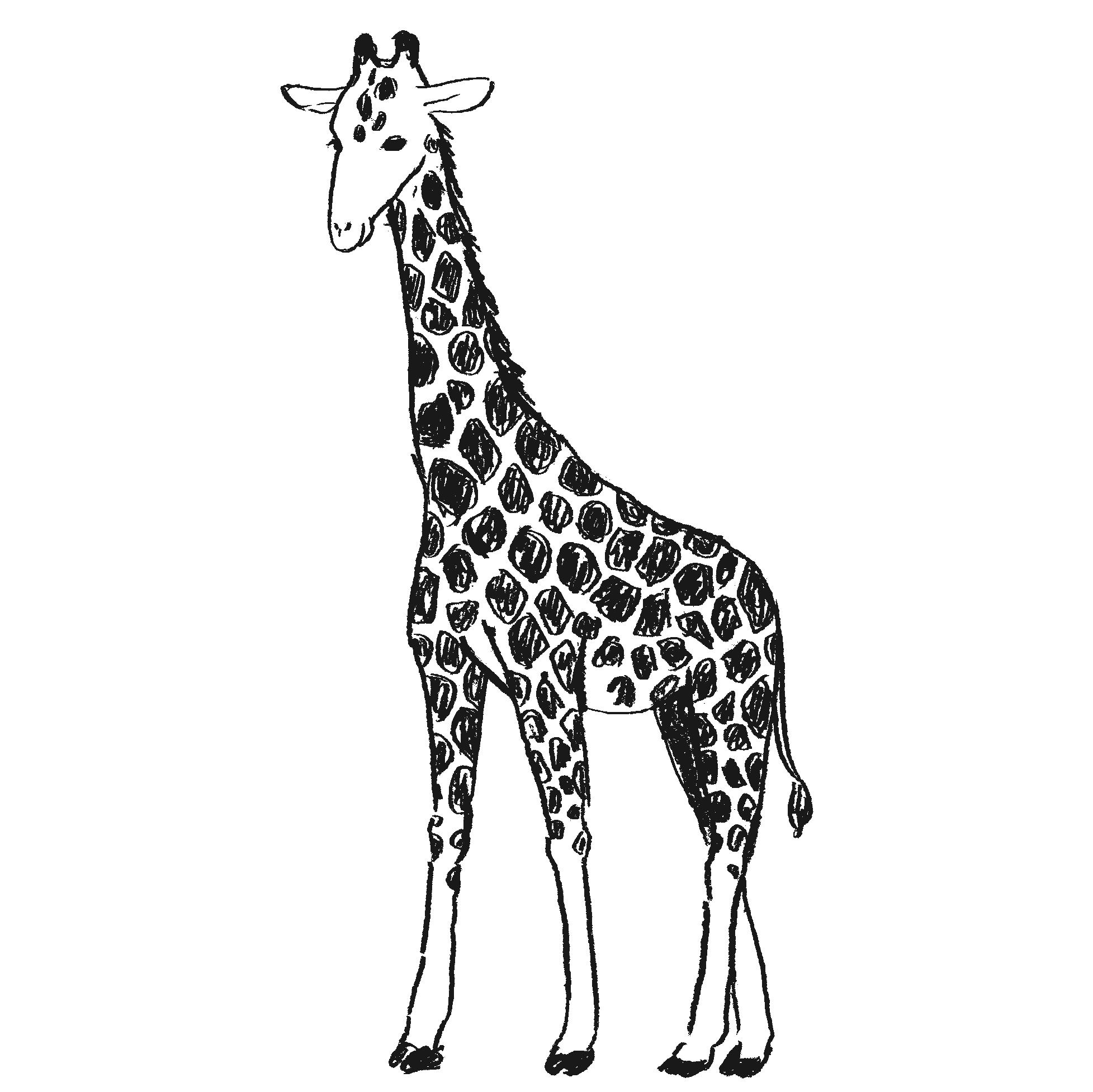 キリンのフリー素材イラスト