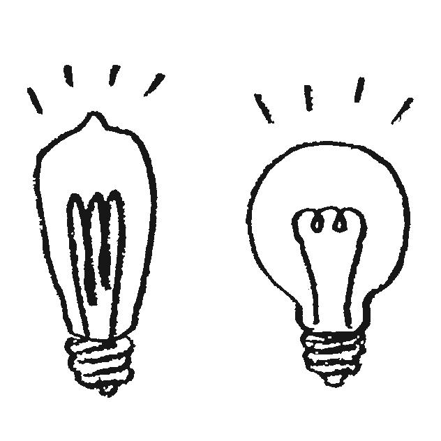 電球のイラストフリー素材